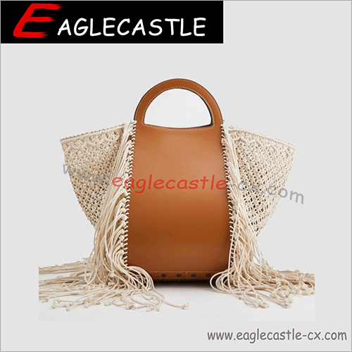 Fashion knitting tassel lady handbag