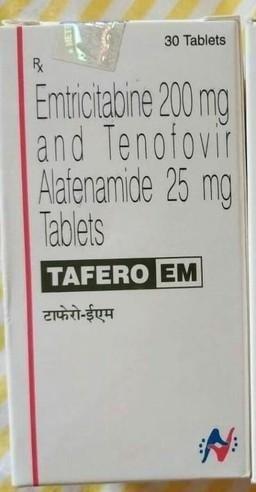 Tafero EM Tablets(Tenofovir alfanamide 25mg + Embtricitabine 200mg tablets)