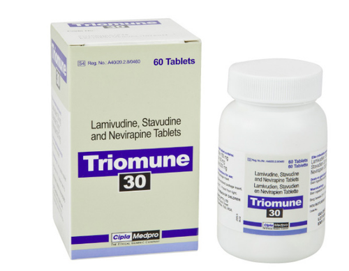 Triomune Tablets(Lamivudine + stavudine + nevirapine)