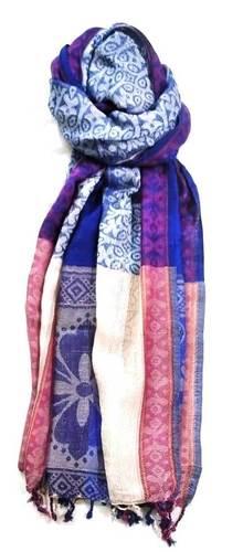 100% Viscose Jamawar Border Design Printed Shawls