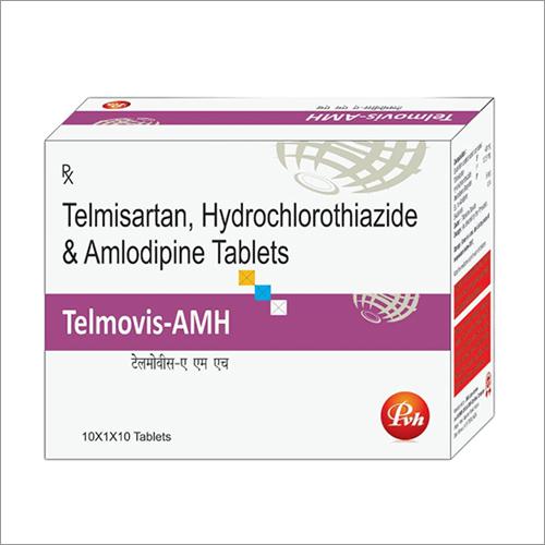 Telmisartan, Hydrochlorothiazide And Amlodipine Tablets