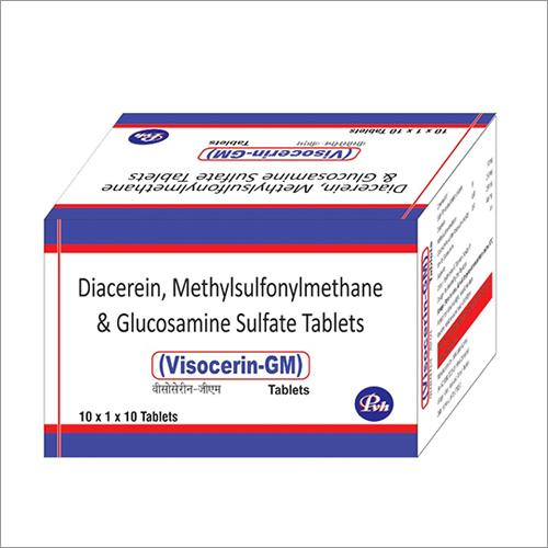 Diacerein, Methylsulfonylmethane And Glucosamine Sulfate Tablets
