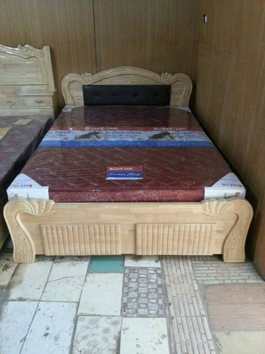 Queen Size Wooden Cot Bed (Solid Wood)