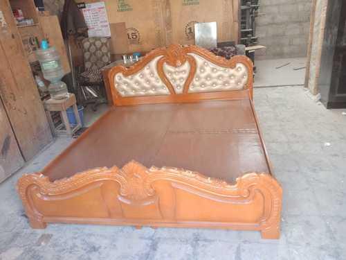 Maharaja Queen/King Size Wooden Cot (Solid Wood)