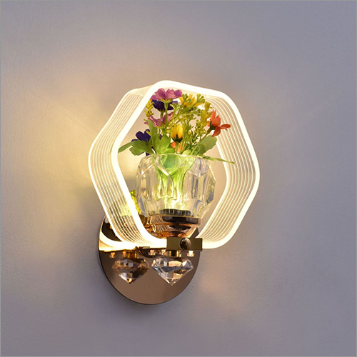 Hexagon Lamp with Flowers