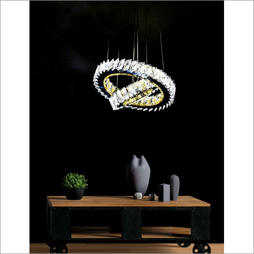 Two Round Rings K9 Crystal led Chandelier