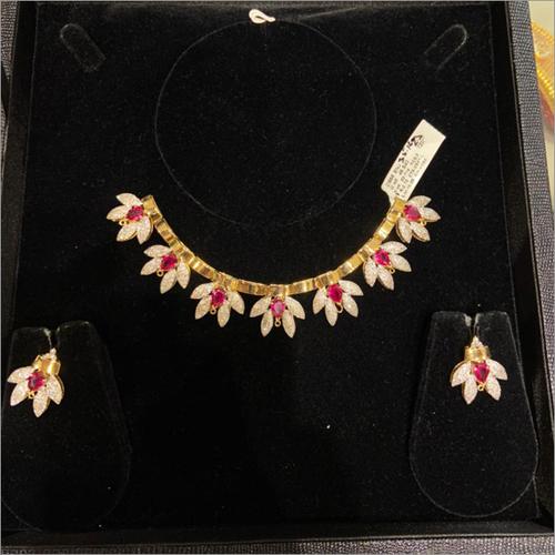 Diamond & Ruby Necklace Set