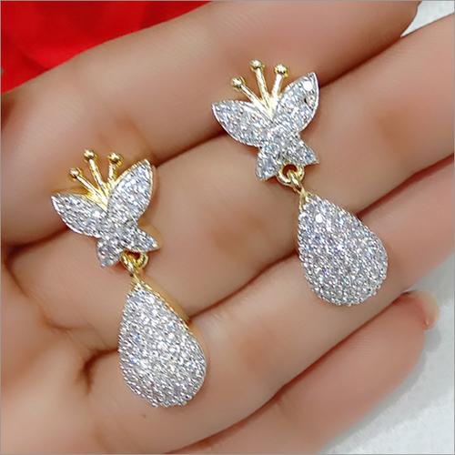 Rhinestone Imitation Western Earrings