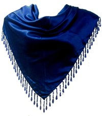 Fancy Fringes Solid Triangle Scarves