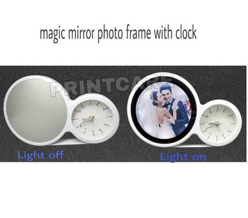 Magic Mirror Photo Frame With Clock
