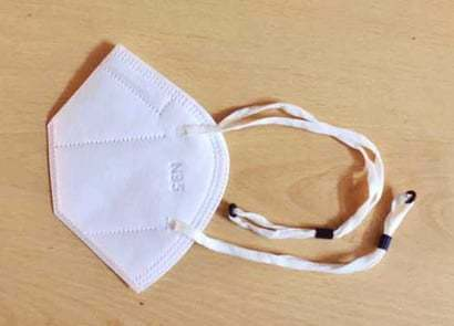 N 95 Face Mask with Hot Air Cotton and adjustable Headloop - 5 Layer