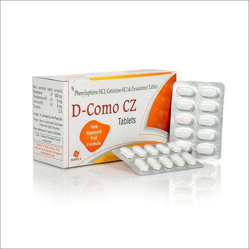 Phenylephrine HCl Cetirizine HCl And Paracetamol Tablets
