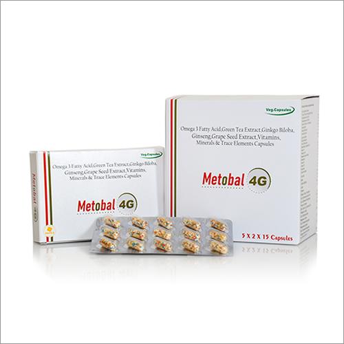 Omega 3 Fatty Acid, Green Tea Extract, Ginkgo Biloba, Vitamins, Minerals And Trace Elements Capsules