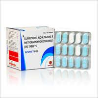 Glimepiride, Pioglitazone And Metformin Hydrochloride (SR) Tablets