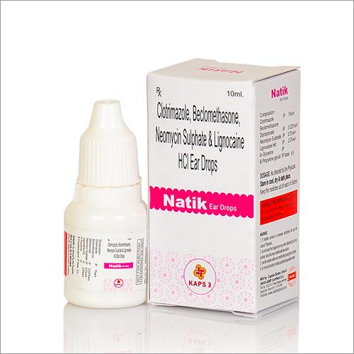 Clotrimazole, Beclomethasone, Neomycin Sulphate And Lignocaine HCl Ear Drops
