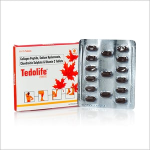 Collagen Peptide, Sodium Hyaluronate, Chondroitin Sulfate And Vitamin C Tablets