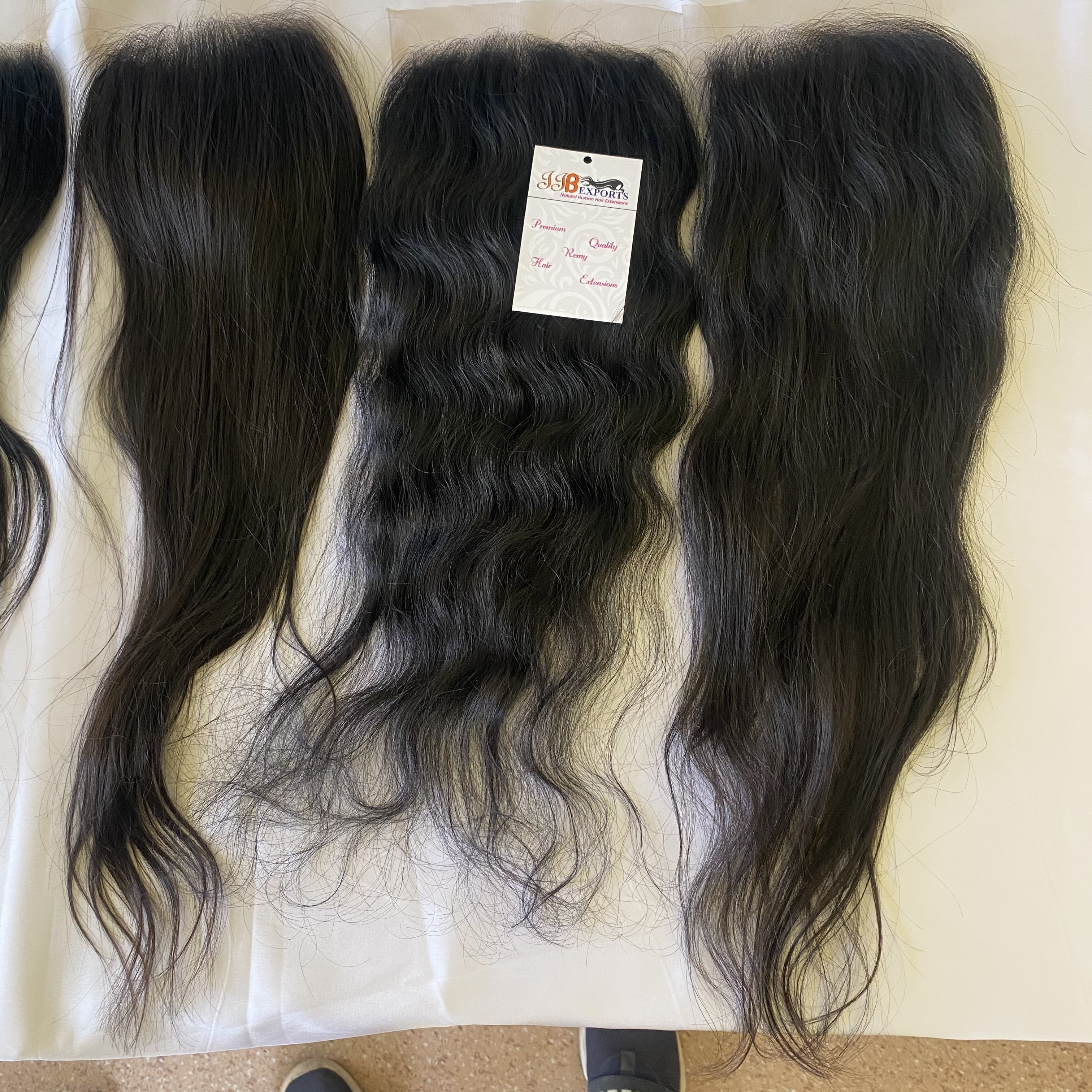 Cuticle Aligned Single Donor Lace Closure 4x4 Indian Temple Raw Human Hair