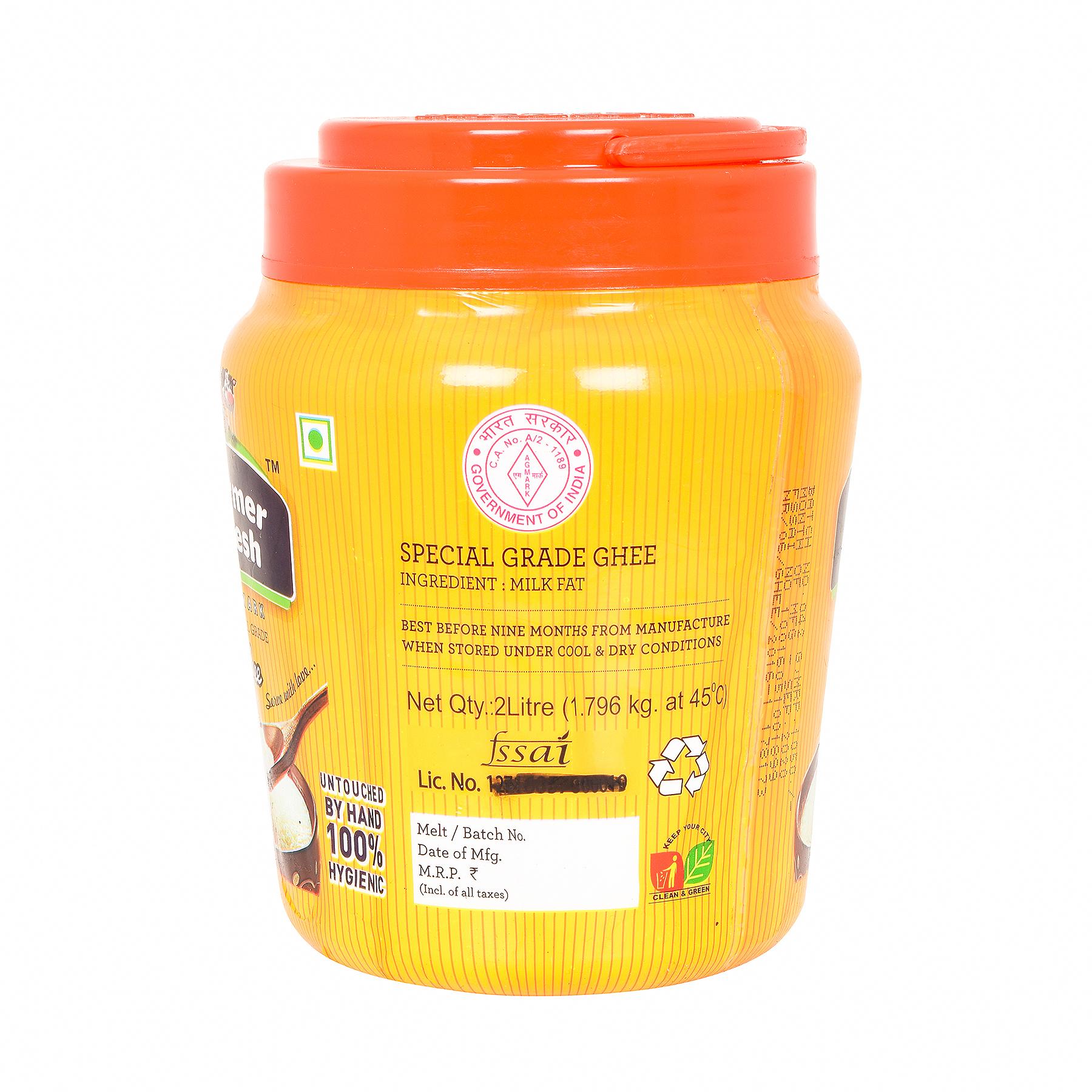 Farmer Fresh Ghee Desi- Poly Jar 2 Litre