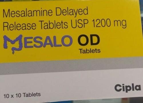 Mesalo OD 1200mg Tablet(Mesalazine / mesalamine)