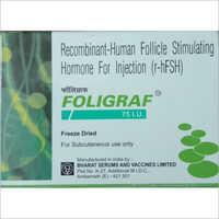 Foligraf 75 IU Recombinant- Human Follicle Stimulating Hormone For Injection