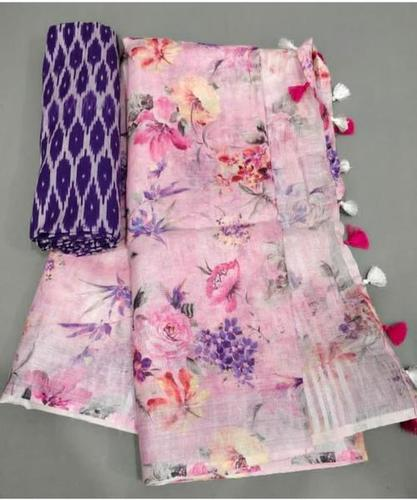 Soft Linen With Digital Print