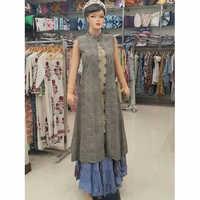 Block Printed Long Dress Set