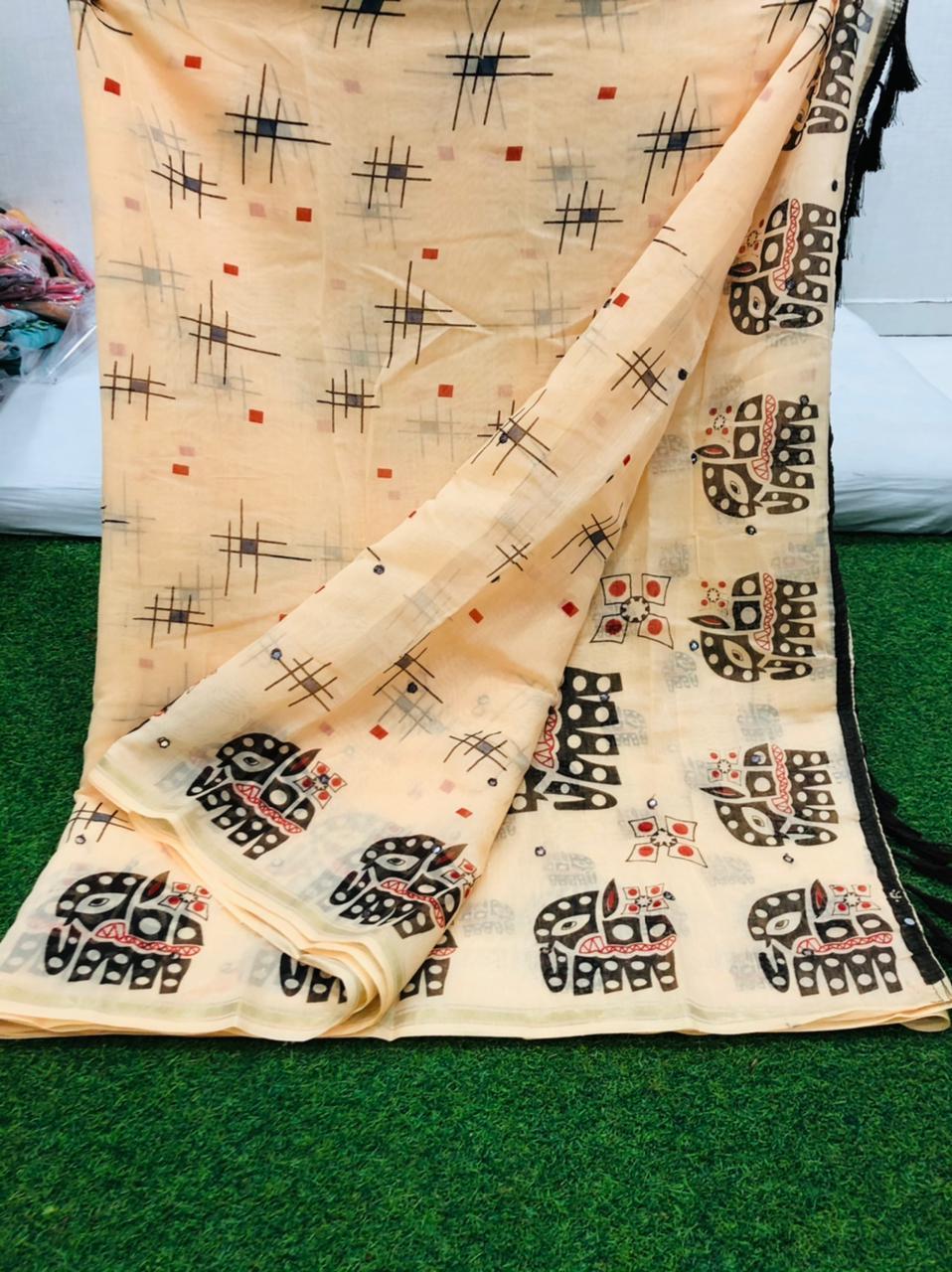Soft Linen Saree