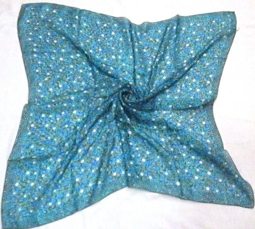 Silk Tabby Square Printed Scarves