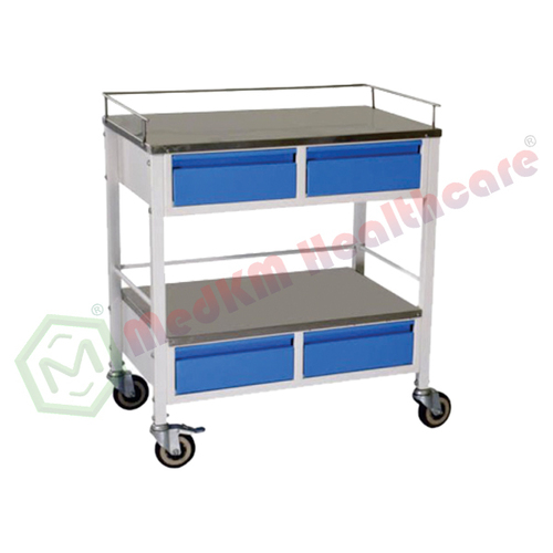Medicine Trolley with 4 Drawers