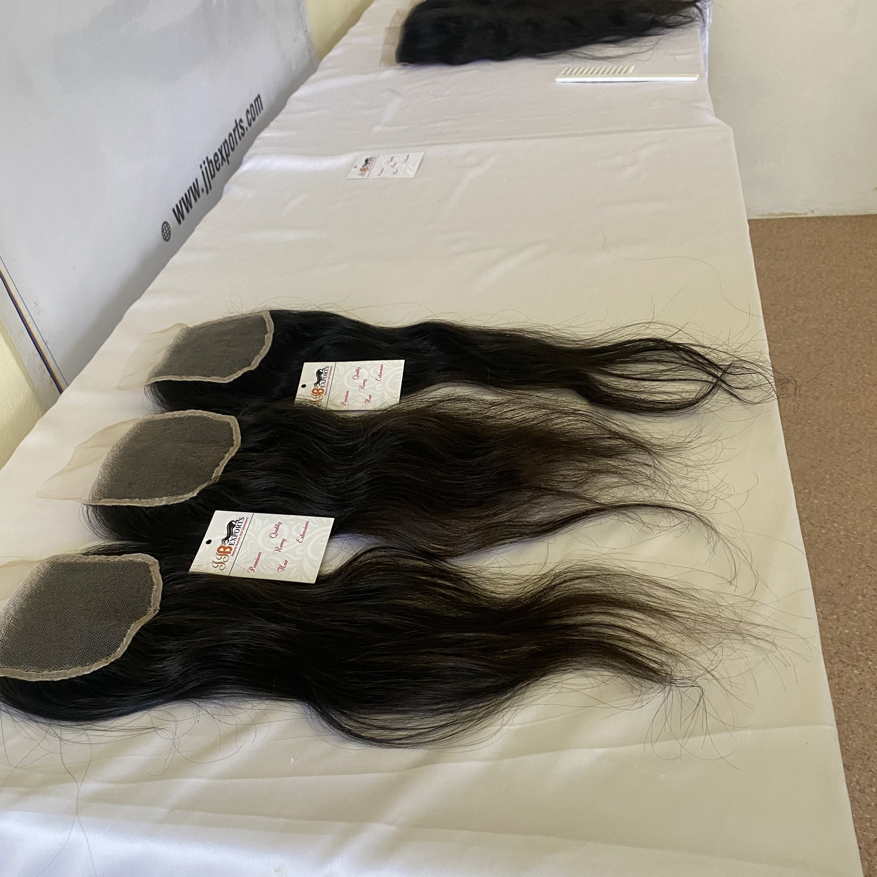 Top Quality Lace Closure,hdlace Frontal With Single Drawn Virgin Brazilian Hair Wefted Bundle