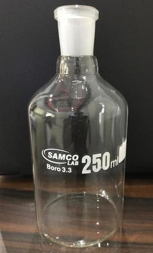 REAGENT BOTTLES PLAIN NARROW MOUTH WITH INTERCHANGEABLE FLAT HEAD STOPPER