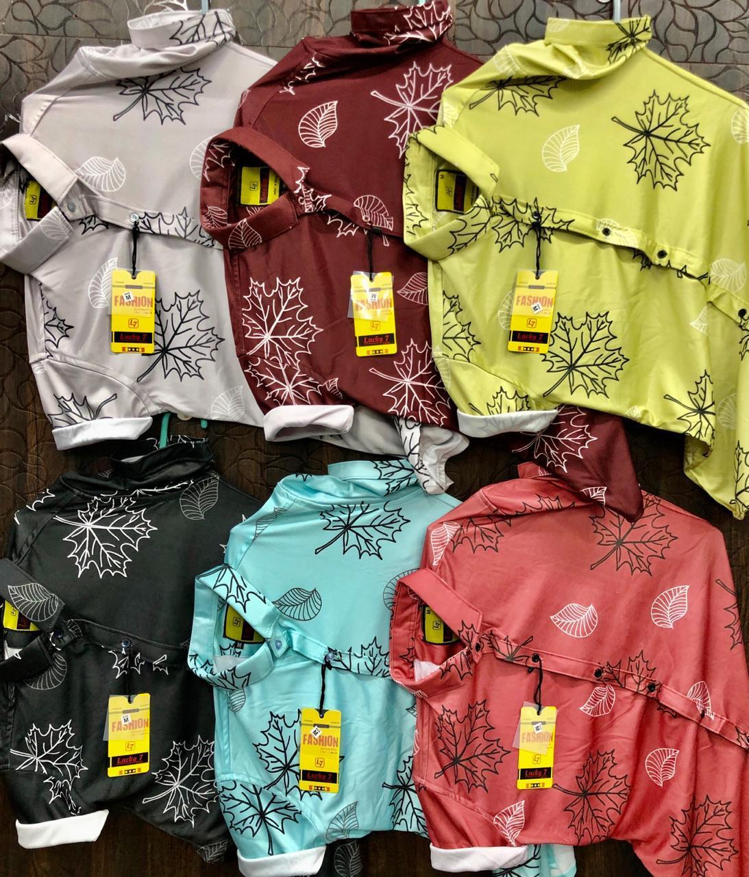 Mens Leaf Printed Shirts