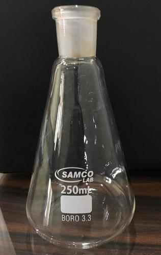 FLASKS, ERLENMEYER, CONICAL, NARROW MOUTH, INTERCHANGEABLE JOINT