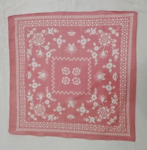 Pink 100% Cotton Square Printed Fancy Bandana