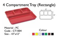 Fast Food Tray 4 Compartment 10 x 12