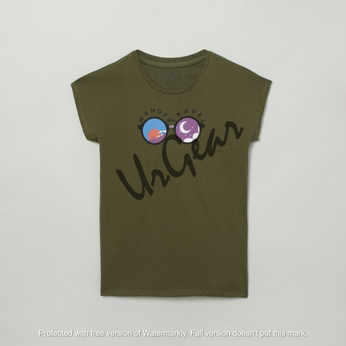 Kids Printed Green T-Shirt