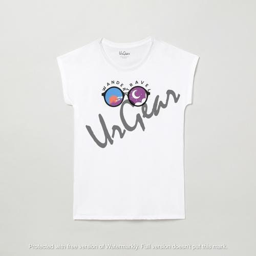 Kids Printed White T-Shirt