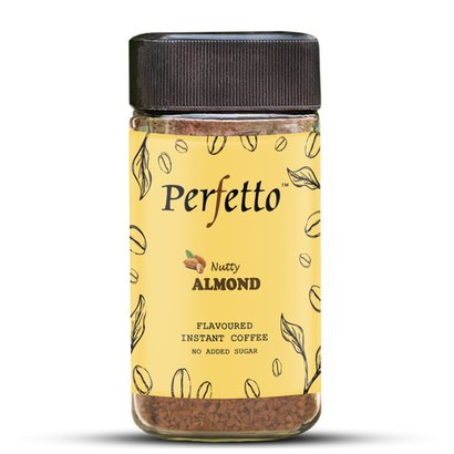 Perfetto Almond Flavoured Instant Coffee Sweet-Smelling