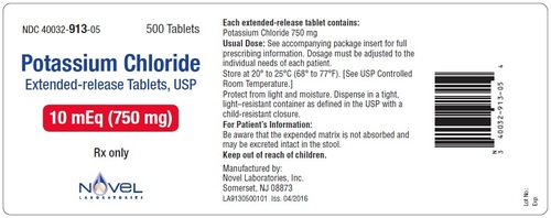 Potassium Chloride Extended-Release Tablets