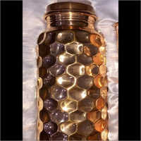Trendy Pure Copper Hammered Water Bottle