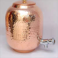 Trendy Pure Copper Hammered Jar