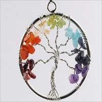 Magical Seven Chakra Tree Pendant