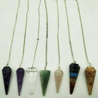 Healing Pendulum Pendant In DIfferent Stones Lapis