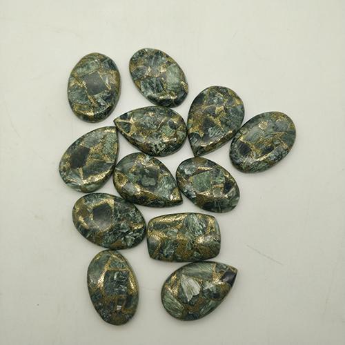 Natural Stone Charoite Copper Turquoise Oval Cabochon