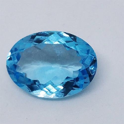 Gemstone Natural Loose Faceted Sky Blue Topaz for ring