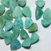 Gemstone Natural Loose Trillion Cut Larimar Faceted Stone