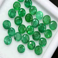 Gemstone Natural Round Loose Faceted Zambian Emerald