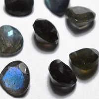 Natural Labradorite Heart Cut Faceted Gemstone