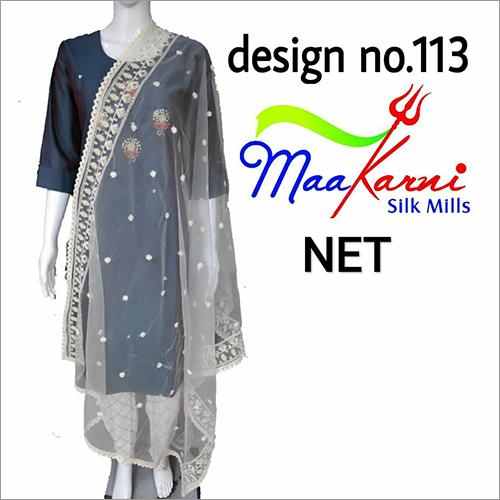 Designer Chikankari Dupatta