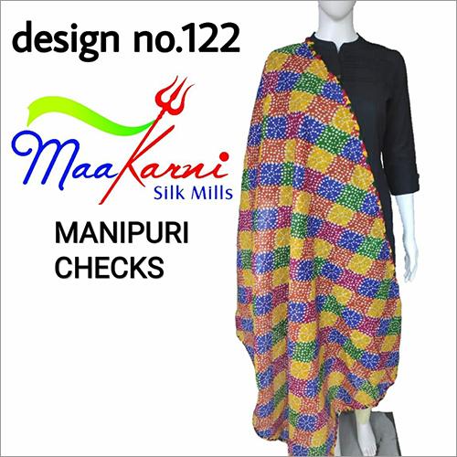 Manipuri Checks Multi Print Dupatta